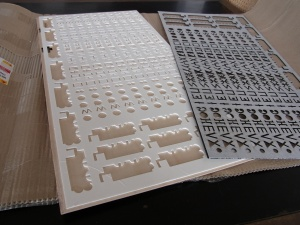 Lasercut pieces